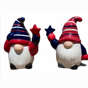 NWT Tag Salt And Pepper patriotic gnomes shakers